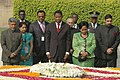 The President of Republic of Benin, Dr. Boni Yayi and his wife Mrs. Chantal de Souza-Yayi paying homage at the Samadhi of Mahatma Gandhi at Rajghat, in Delhi on March 04, 2009.jpg