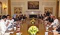 The Prime Minister, Dr. Manmohan Singh at the delegation level talks with the Prime Minister of Nepal, Shri Madhav Kumar Nepal, in New Delhi on August 19, 2009.jpg