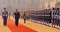 The Prime Minister of the Kingdom of Cambodia, Mr. Samdech Hun Sen inspecting the Guard of Honour at a ceremonial reception, in New Delhi on December 08, 2007.jpg