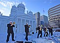 The U.S. 7th Fleet Band performs at the 70th annual Sapporo Snow Festival (46147976845)..jpg