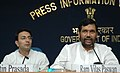 The Union Minister of Chemicals & Fertilizers and Steel, Shri Ram Vilas Paswan addressing a Press Conference on achievements of the Ministry of Steel during the last four years, in New Delhi on May 23, 2008.jpg