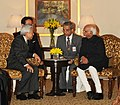 The Vice President, Shri Mohd. Hamid Ansari meeting the Emperor of Japan, His Majesty Akihito, in New Delhi on December 03, 2013.jpg