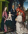 The Virgin and Child enthroned, with Sts Jerome and John the Baptist and a kneeling Carthusian monk by Jan Provoost (1465 - 1529) attributed.jpg