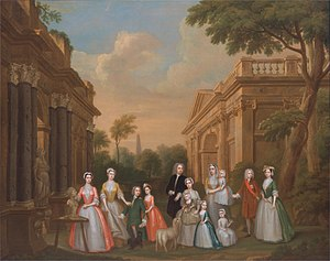 Thomas Watson-Wentworth, 1st Marquess of Rockingham - The Watson-Wentworth and Finch families (Charles Philips, c. 1732)