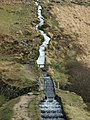 The aqueduct and waterfall in the Devonport leat near Raddick Hill - geograph.org.uk - 362536.jpg