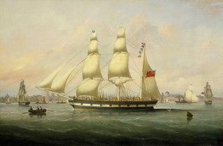 The barque Naomi