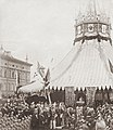 The consecration of the Troitsky Bridge or Trinity Bridge in Leningrad, later Saint Petersburg, Russia, 12th August 1897. Felix Faure, the French President, is present for the ceremony.jpg