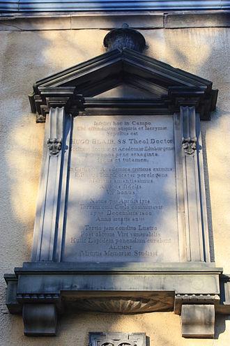Hugh Blair - The gravestone of Hugh Blair, Greyfriars Kirkyard