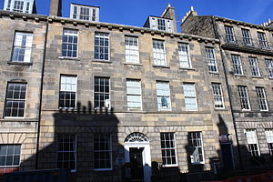 John Wilson Ewbank - The property at 7 Union Street, Edinburgh where the artist John Ewbank lived