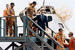 The three Skylab 2 crewmen arrive on the deck of the prime recovery ship.jpg