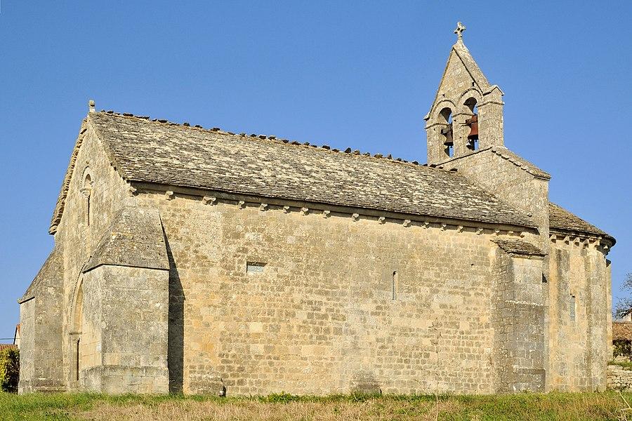 Église Sainte-Radegonde de Theil-Rabier, vue vers le nord