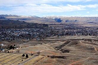 Thermopolis, Wyoming - Thermopolis viewed from Roundtop Mountain