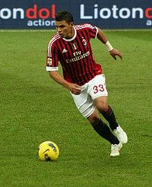 Thiago Silva durante Milan-Siena, Serie A 2011-2012