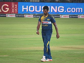 Thisara Perera - Image: Thisara Perera getting ready to bowl