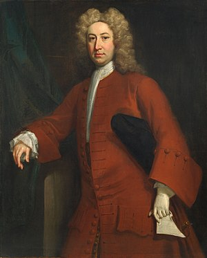 Jonathan Richardson - Thomas Fanshawe (1696—1758), 4th of Parsloes Manor, (attributed to Richardson), ca. 1736.