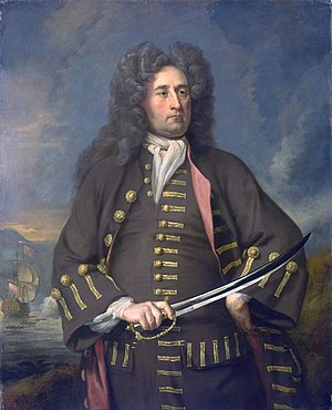 Thomas Hopsonn - Portrait of Hopsonn, painted between 1705 and 1708 by Michael Dahl