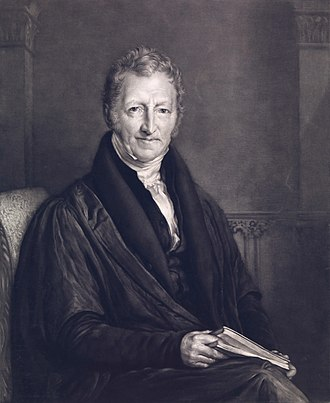 Thomas Robert Malthus - Portrait by John Linnell