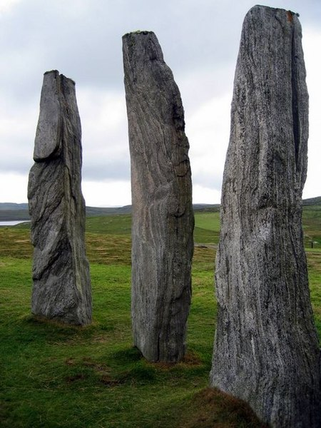 File:Three stones of the Callanish circle - geograph.org.uk - 1264940.jpg