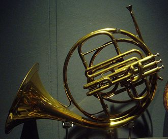 German horn - French single horn by Jean Baptiste Arban, with three Périnet valves