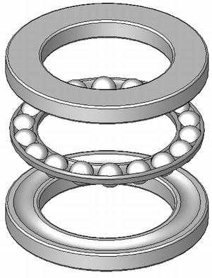 Thrust bearing - A thrust ball bearing