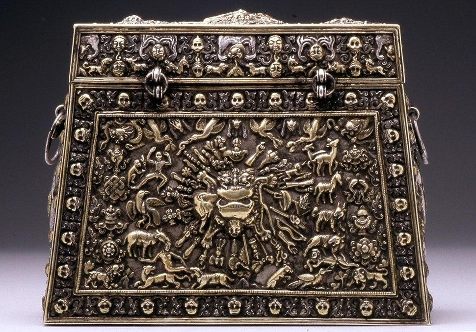 Tibetan - A Ritual Box - Walters 572299 - Reverse