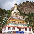 Tibetan Buddhist chorten on 11 August 2011 detail, from- Stupa- Senzdong - panoramio (cropped).jpg
