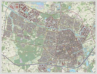 Tilburg - Dutch topographic map of Tilburg, as of March 2014