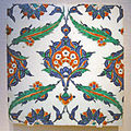 Tile, Iznik, Turkey, c. 1575 AD, stonepaste body painted under glaze - Freer Gallery of Art - DSC05441.JPG