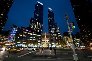 Time Warner Center and Columbus Circle, Manhat...
