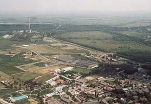 Tiszaújváros - Image: Tiszaújváros légifotó3