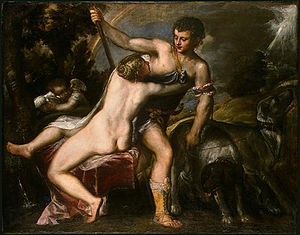 "Venus and Adonis (Titian) - National Gallery of Art, Washington. Example of the ""Farnese type""."