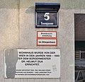 Toßgasse 5, Vienna - plaque.jpg