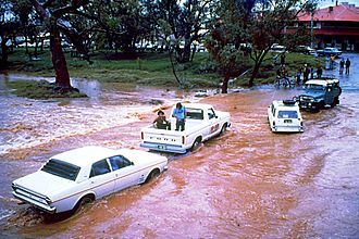 Todd River - Todd River flooding in 1988