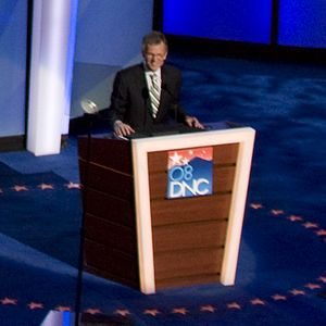 Tom Daschle - Daschle speaks during the third night of the 2008 Democratic National Convention in Denver, Colorado.