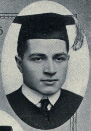 Tom Shaughnessy - Tom Shaughnessy at Notre Dame, 1915 senior portrait