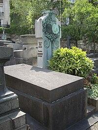 Tombe Jules Chéret, Cimetière Saint-Vincent, Paris.jpg