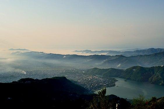 Top view of pokhara city nepal.jpg