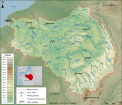 Topographic map of the Seine basin (French png).png