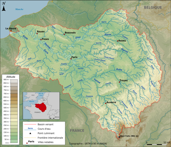 Topographic Map France.File Topographic Map Of The Seine Basin French Png Png Wikimedia