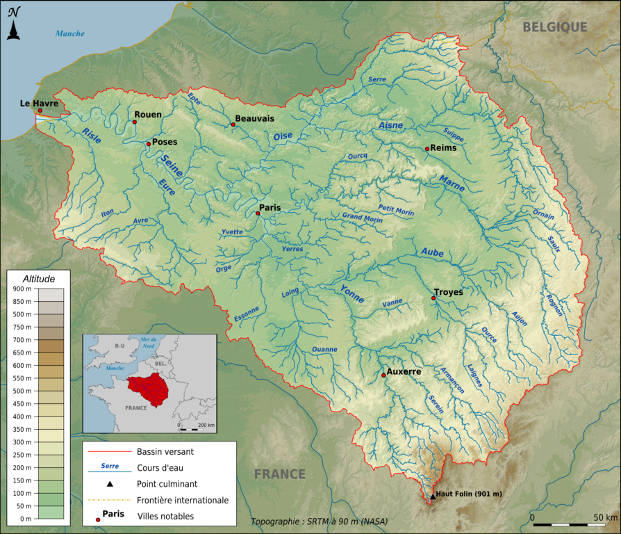 File Topographic Map Of The Seine Basin French Png Png Wikimedia