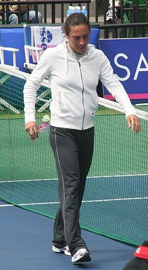 Italian Tennis player Francesca Schiavone duri...
