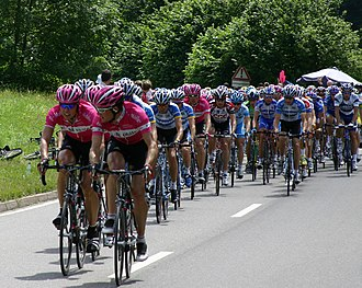 Cycle sport - The peloton of the Tour de France
