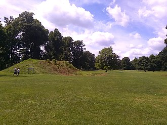 Newark Earthworks - Image: Tourists At Great Circle Earthworks