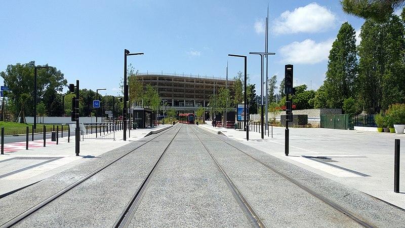 Arrêt de tramway CADAM - Tramway Nice T2 CADAM -20180713