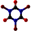 Tribromoisocyanuric acid Ball and Stick.png