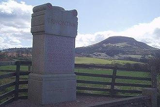 Trimontium (Newstead) - Monument marking the site of Trimontium