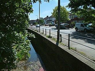 Turkey Brook -  The brook at Turkey Street, Enfield