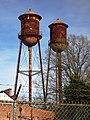 Twin water towers, Wilson, North Carolina from south.jpg