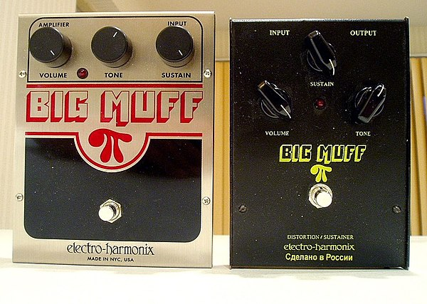 Big Muff fuzzboxes: a NYC re-issue (L) and a Russian Sovtek version (R) TwoBigMuffsoriginal.jpg