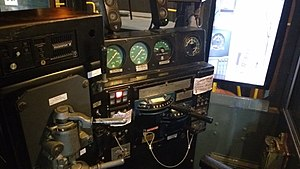 GE U33C - U33C control cab on display at the Toronto Railway Museum. Former Delaware & Hudson unit.